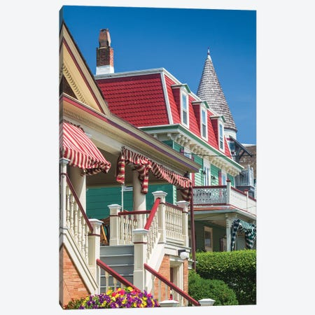 USA, New Jersey, Cape May. Victorian house detail. Canvas Print #WBI163} by Walter Bibikow Canvas Art Print