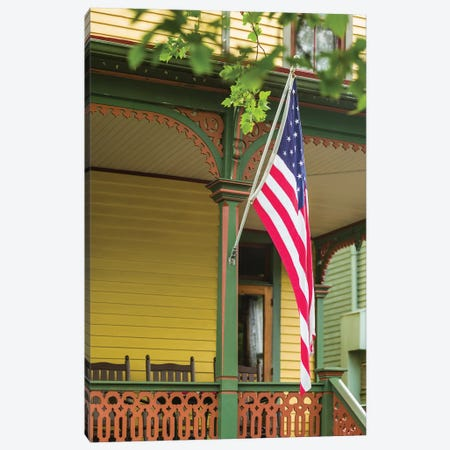 USA, New Jersey, Cape May. Victorian house detail. Canvas Print #WBI166} by Walter Bibikow Canvas Wall Art