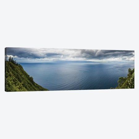 Portugal, Azores, Pico Island, Terra Alta. Miradouro da Terra Alta, viewpoint to Sao Jorge Island Canvas Print #WBI168} by Walter Bibikow Canvas Art Print