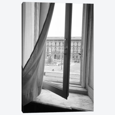 Palazzo Marino As Seen From A Window At Teatro alla Scala, Milan, Lombardy Region, Italy Canvas Print #WBI16} by Walter Bibikow Art Print