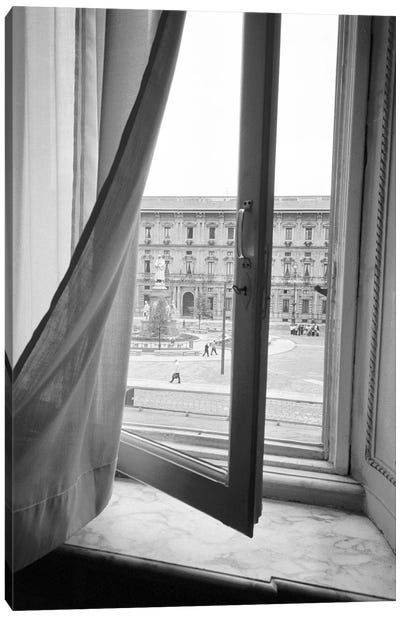 Palazzo Marino As Seen From A Window At Teatro alla Scala, Milan, Lombardy Region, Italy Canvas Art Print