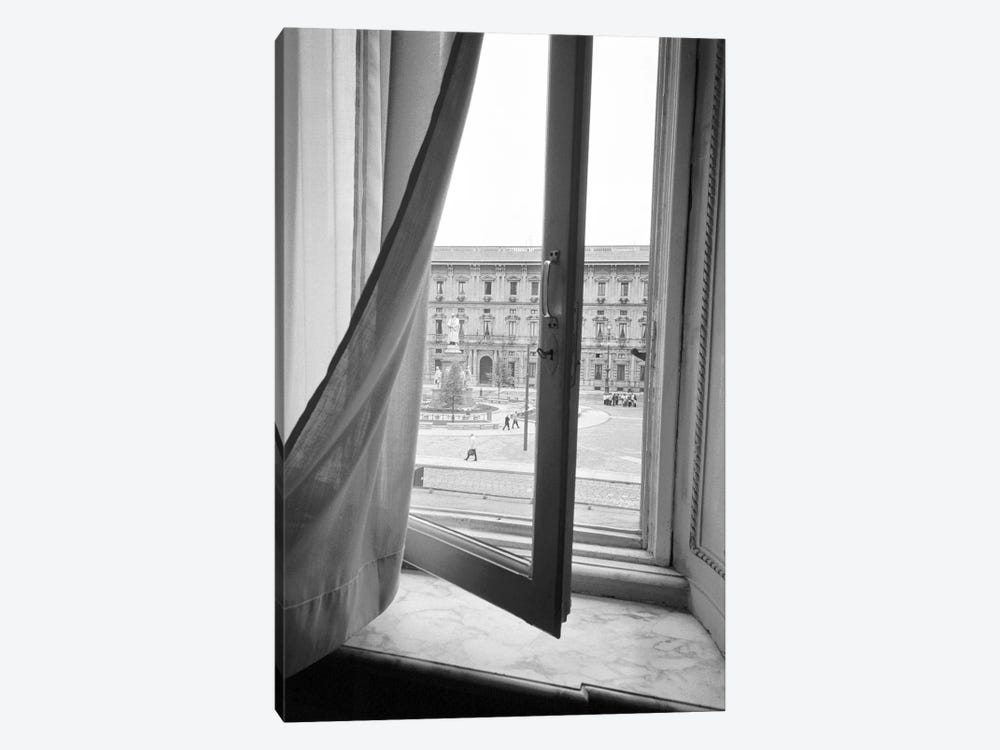 Palazzo Marino As Seen From A Window At Teatro alla Scala, Milan, Lombardy Region, Italy by Walter Bibikow 1-piece Art Print