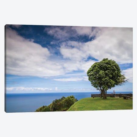 Portugal, Azores, Sao Miguel Island, Baia de Santa Iria. Miradouro de Santa Iria Canvas Print #WBI174} by Walter Bibikow Canvas Art Print