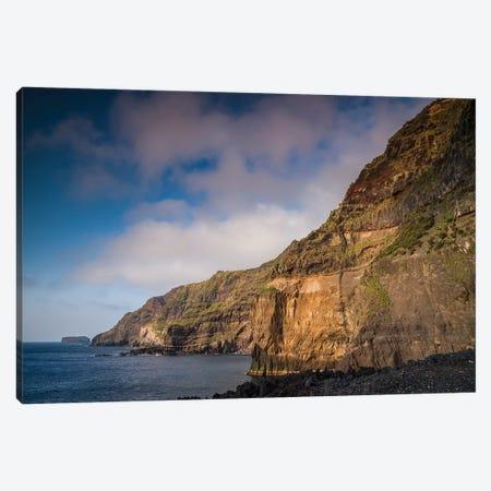 Portugal, Azores, Sao Miguel Island, Ponta da Ferraria cliffs Canvas Print #WBI176} by Walter Bibikow Canvas Print