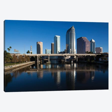 USA, Florida, Tampa, City View From Hillsborough River Canvas Print #WBI179} by Walter Bibikow Canvas Art