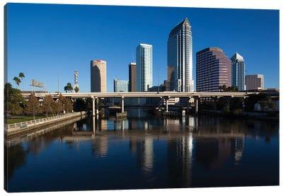 USA, Florida, Tampa, City View From Hillsborough River Canvas Art Print