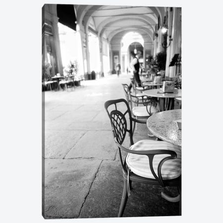 Outdoor Café, Turin, Piedmont Region, Italy Canvas Print #WBI17} by Walter Bibikow Art Print
