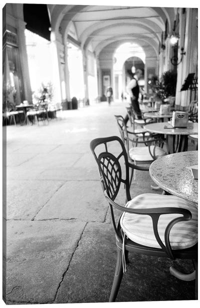 Outdoor Café, Turin, Piedmont Region, Italy Canvas Art Print