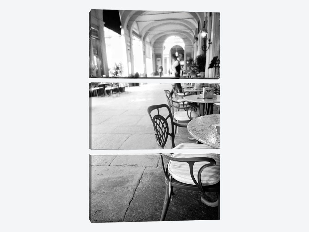 Outdoor Café, Turin, Piedmont Region, Italy 3-piece Canvas Art