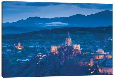 Georgia, Akhaltsikhe. Town view with Rabati Fortress. Canvas Art Print