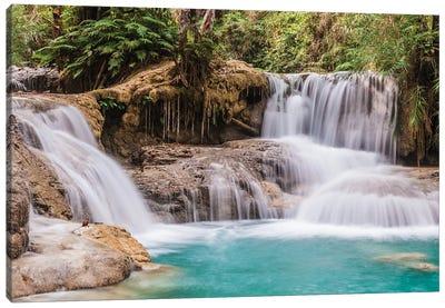 Laos, Luang Prabang. Tat Kuang Si Waterfall. Canvas Art Print