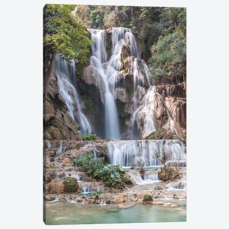 Laos, Luang Prabang. Tat Kuang Si Waterfall. Canvas Print #WBI189} by Walter Bibikow Canvas Art Print