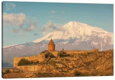 Armenia, Khor Virap. Khor Virap Monastery, 6th century, with Mt. Ararat. Canvas Art Print