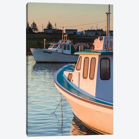 Canada, Prince Edward Island, Malpeque. Small fishing harbor. Canvas Print #WBI199} by Walter Bibikow Canvas Art