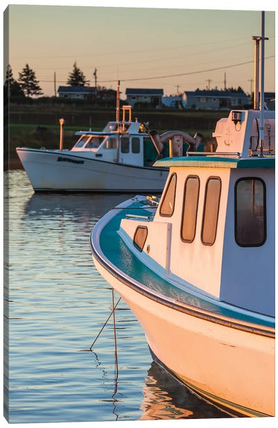 Canada, Prince Edward Island, Malpeque. Small fishing harbor. Canvas Art Print