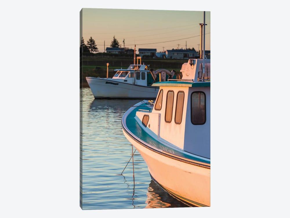 Canada, Prince Edward Island, Malpeque. Small fishing harbor. by Walter Bibikow 1-piece Canvas Wall Art