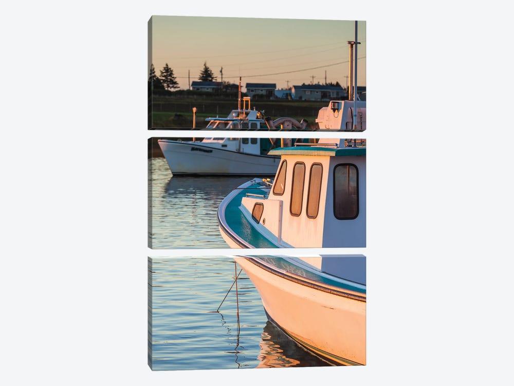 Canada, Prince Edward Island, Malpeque. Small fishing harbor. by Walter Bibikow 3-piece Canvas Artwork