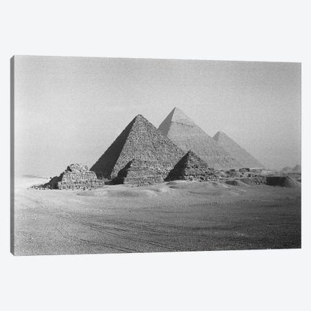 The Great Pyramids, Giza Pyramid Complex, Giza Plateau, Giza, Egypt Canvas Print #WBI1} by Walter Bibikow Canvas Artwork