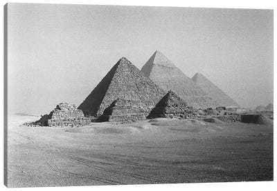The Great Pyramids, Giza Pyramid Complex, Giza Plateau, Giza, Egypt Canvas Art Print