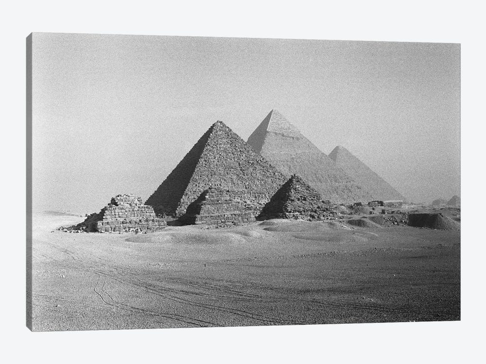 The Great Pyramids, Giza Pyramid Complex, Giza Plateau, Giza, Egypt by Walter Bibikow 1-piece Canvas Art