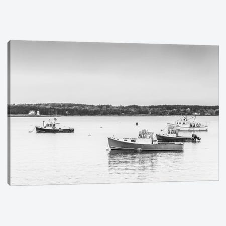 USA, Maine Five Islands. Fishing boats. Canvas Print #WBI203} by Walter Bibikow Canvas Art