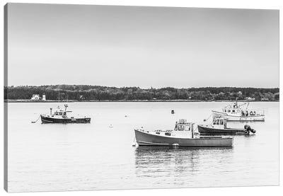 USA, Maine Five Islands. Fishing boats. Canvas Art Print