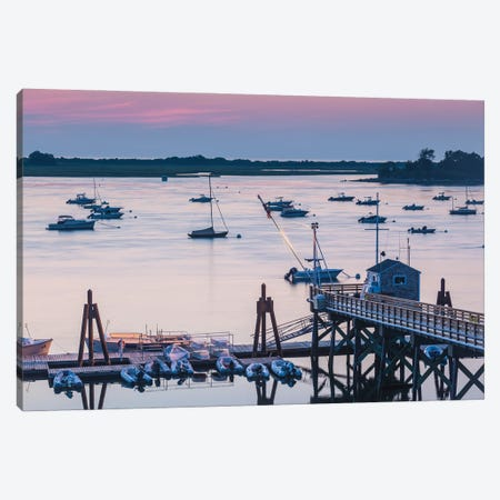 USA, Massachusetts, Ipswich. Sunrise over Great Neck Canvas Print #WBI206} by Walter Bibikow Canvas Print