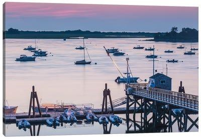 USA, Massachusetts, Ipswich. Sunrise over Great Neck Canvas Art Print