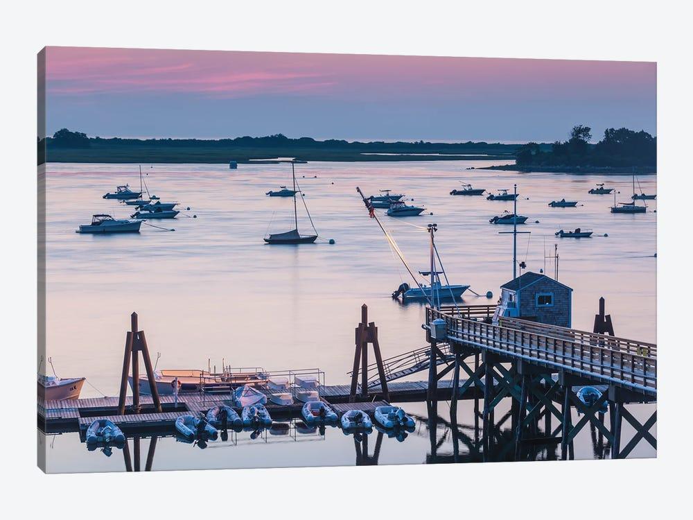USA, Massachusetts, Ipswich. Sunrise over Great Neck by Walter Bibikow 1-piece Canvas Art