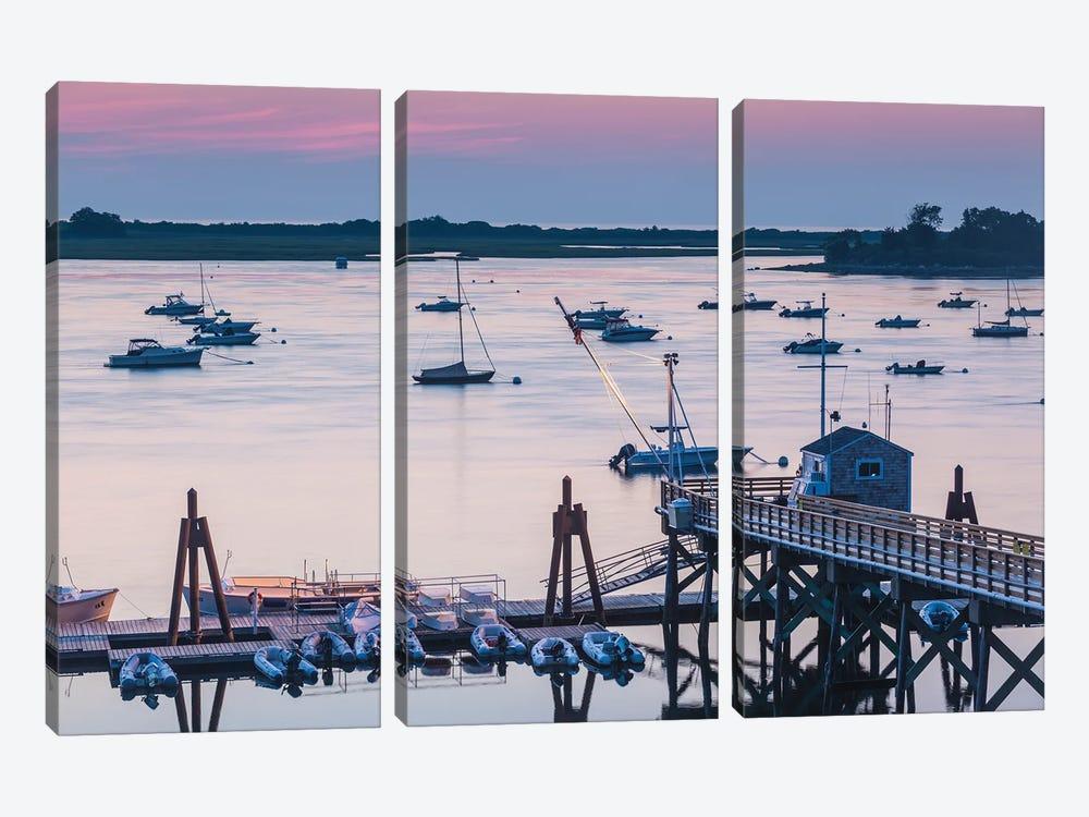 USA, Massachusetts, Ipswich. Sunrise over Great Neck by Walter Bibikow 3-piece Canvas Artwork