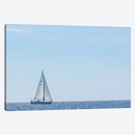 USA, Massachusetts, Cape Ann, Gloucester. Gloucester Schooner Festival, schooner parade of sail. Canvas Print #WBI213} by Walter Bibikow Canvas Print
