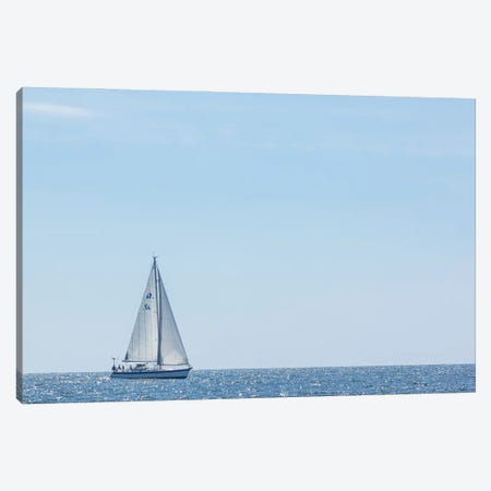 USA, Massachusetts, Cape Ann, Gloucester. Gloucester Schooner Festival, schooner parade of sail. Canvas Print #WBI213} by Walter Bibikow Canvas Print