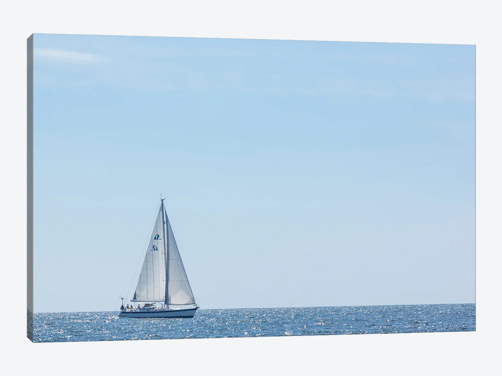 USA, Massachusetts, Cape Ann, Gloucester. Gloucester Schooner Festival, schooner parade of sail. by Walter Bibikow 1-piece Canvas Art