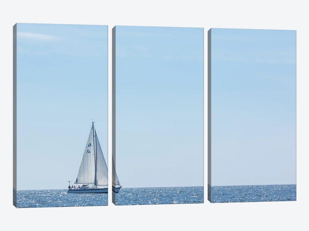 USA, Massachusetts, Cape Ann, Gloucester. Gloucester Schooner Festival, schooner parade of sail. by Walter Bibikow 3-piece Canvas Artwork