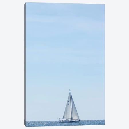 USA, Massachusetts, Cape Ann, Gloucester. Gloucester Schooner Festival, schooner parade of sail. Canvas Print #WBI214} by Walter Bibikow Canvas Art