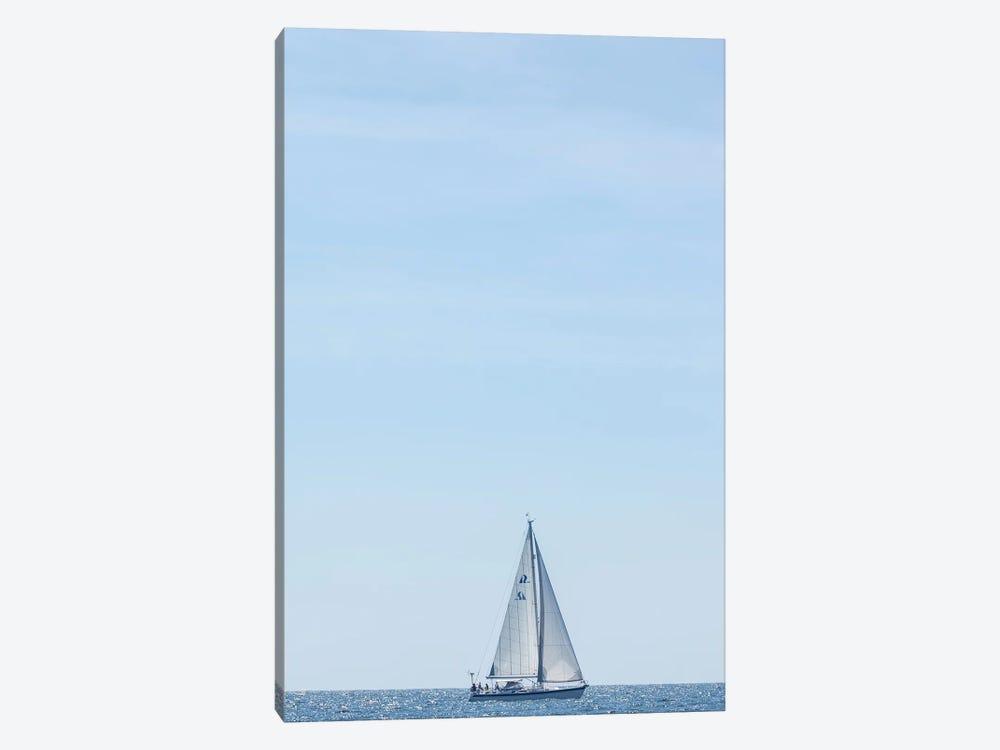 USA, Massachusetts, Cape Ann, Gloucester. Gloucester Schooner Festival, schooner parade of sail. by Walter Bibikow 1-piece Art Print