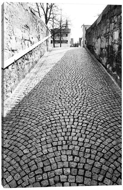 Stone Street In B&W, Zurich, Switzerland Canvas Art Print