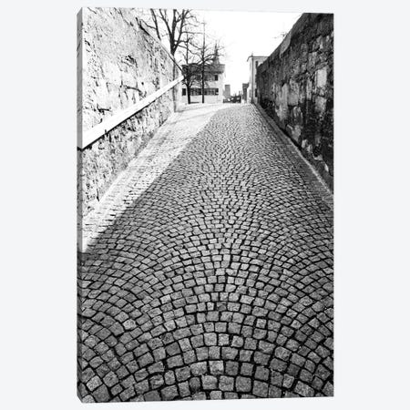 Stone Street In B&W, Zurich, Switzerland Canvas Print #WBI22} by Walter Bibikow Canvas Art Print
