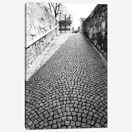 Stone Street In B&W, Zurich, Switzerland Canvas Print #WBI22} by Walter Bibikow Canvas Art Print