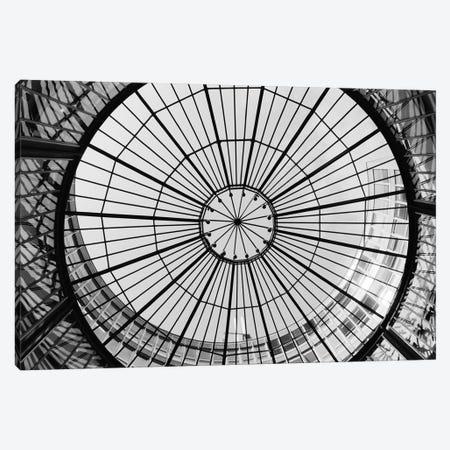 Glass Dome In B&W, SIX Swiss Exchange, Zurich,  Canvas Print #WBI23} by Walter Bibikow Art Print