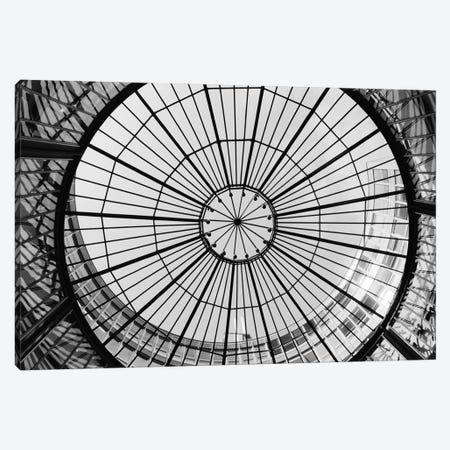 Glass Dome In B&W, SIX Swiss Exchange, Zurich,  Canvas Print #WBI23} by Walter Bibikow Art Print