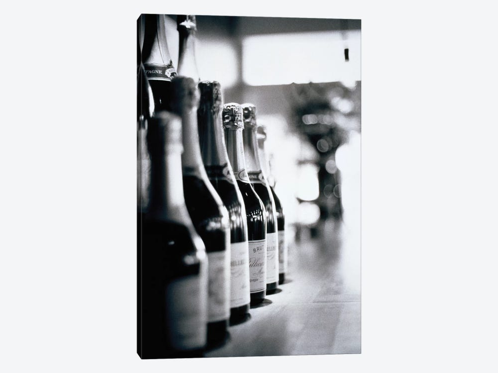 A Row Of Champagne Bottles 1-piece Canvas Artwork