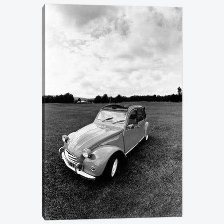 Citroen 2CV In B&W Canvas Print #WBI26} by Walter Bibikow Canvas Artwork