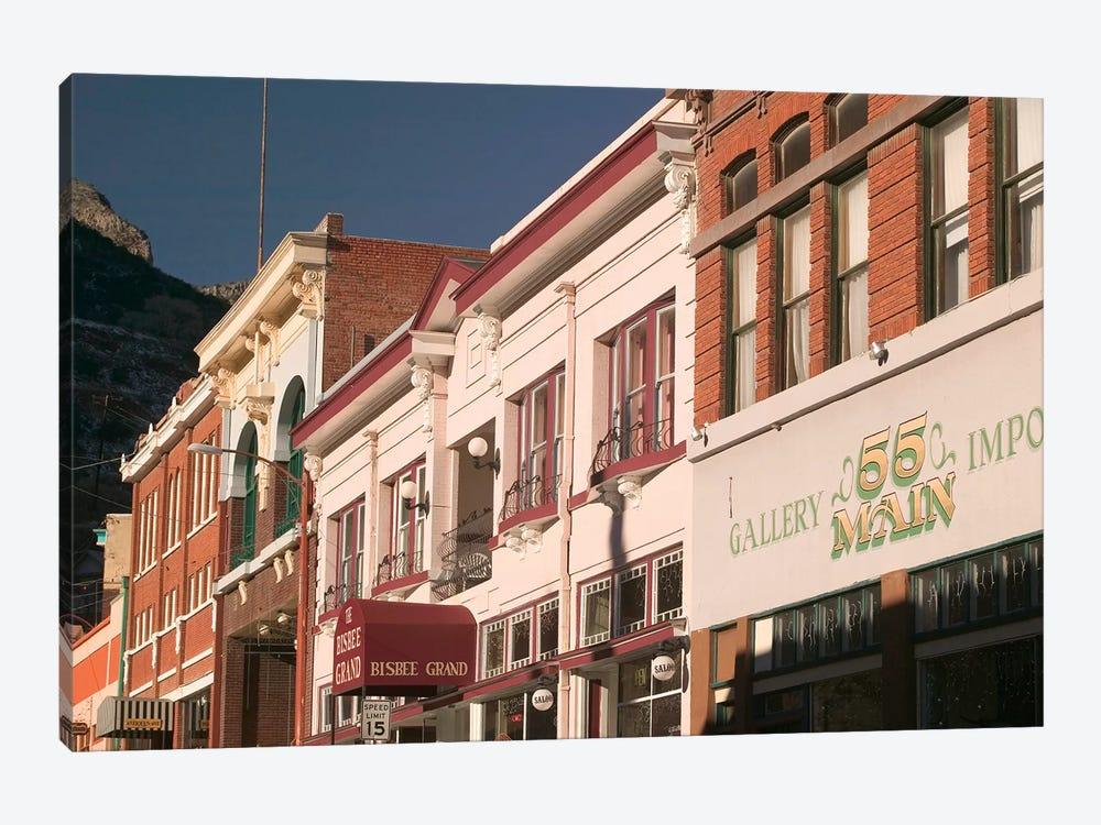 Main Street Architecture, Bisbee, Arizona, USA by Walter Bibikow 1-piece Canvas Print