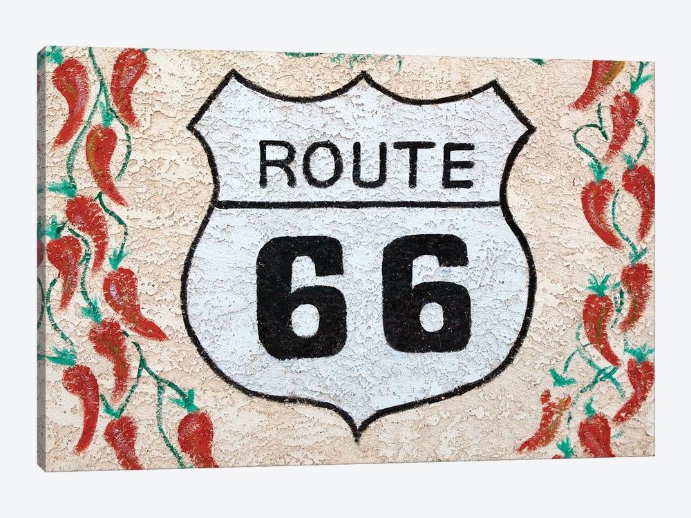 U.S. Route 66 Mural, Holbrook, Arizona, USA by Walter Bibikow 1-piece Canvas Art