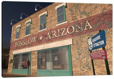 U.S. Route 66 Standin' On The Corner Park Roadside Attraction, Winslow, Arizona, USA Canvas Art Print