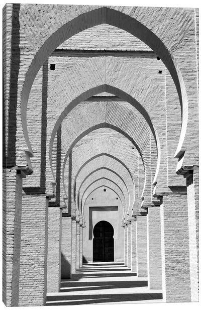 Outdoor Walkway, Tinmel Mosque, Tinmel, Al Haouz Province, Marrakesh-Safi, Morocco Canvas Art Print