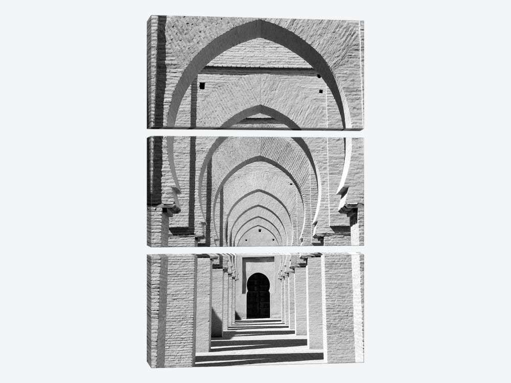 Outdoor Walkway, Tinmel Mosque, Tinmel, Al Haouz Province, Marrakesh-Safi, Morocco by Walter Bibikow 3-piece Art Print