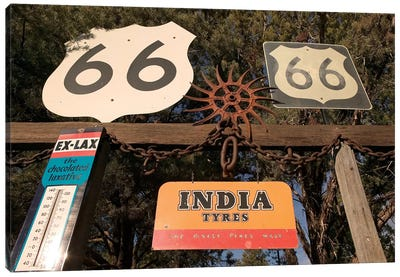 Vintage Americana Display In Zoom, Sedona, Arizona, USA Canvas Print #WBI30