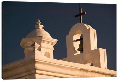 Mortuary Chapel Rooftop Bells, Mission San Xavier del Bac, Tohono O'odham Nation, Arizona, USA Canvas Print #WBI32